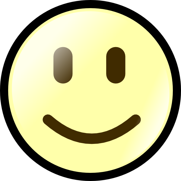 600x600 Yellow Happy Face Clip Art