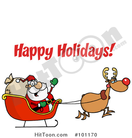 450x470 Christmas Greeting Clipart