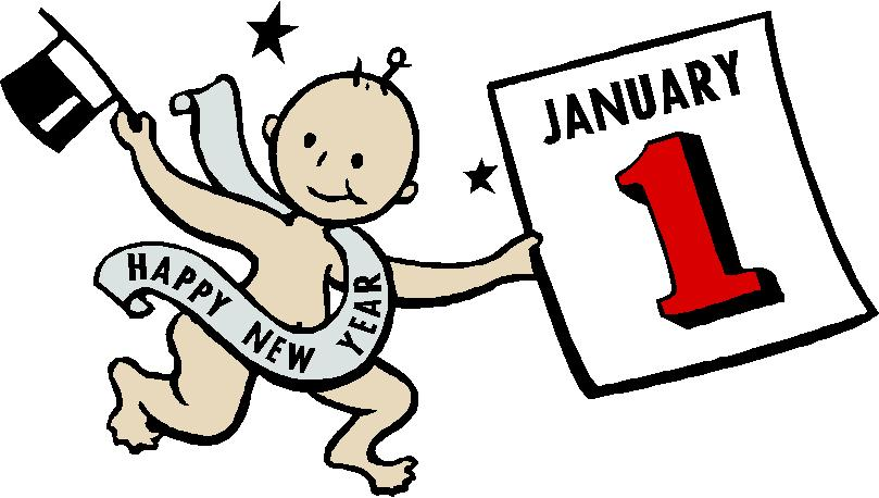 809x458 january calendar new year clip art