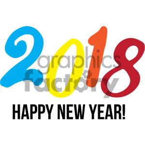 300x300 Royalty Free Happy New Year 2018 404014 Vector Clip Art Image