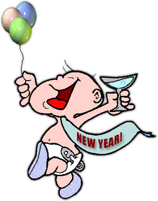 320x406 baby new year clip art