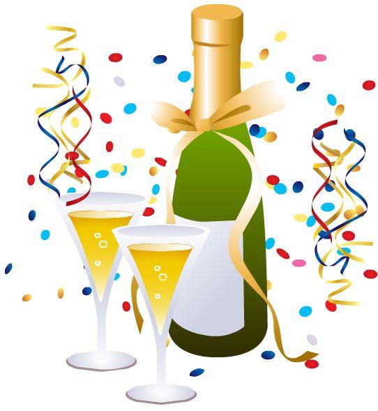 542x589 Celebratory New Year Clip Art