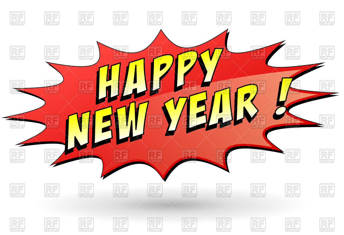 1200x820 Speech Bubble With Wording Happy New Year