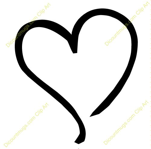 Free Clipart Heart Outline