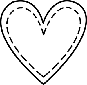 300x294 Double Heart Outline Clip Art