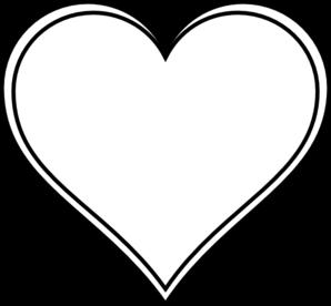 298x276 Double Outline Heart Clip Art
