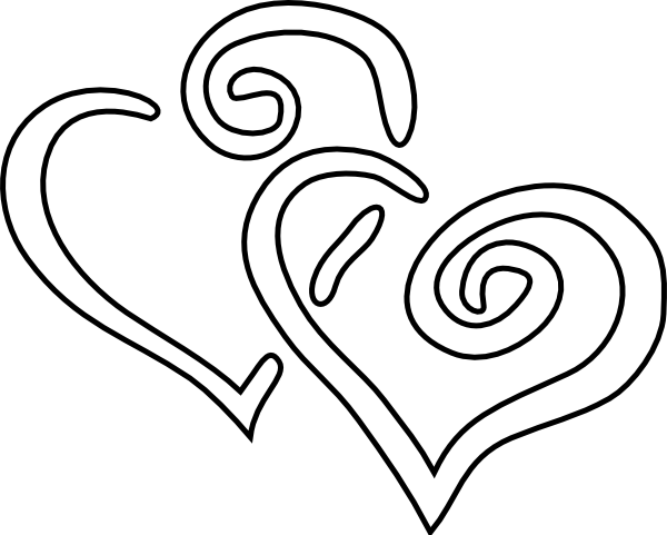 600x481 Double Heart Outline Clip Art
