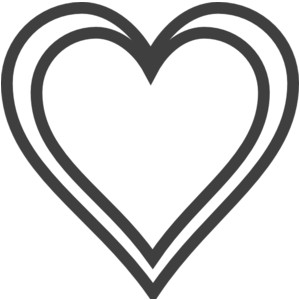 300x300 Elegant Double Hearts Clipart