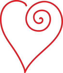 261x300 Hearts Clipart Curly
