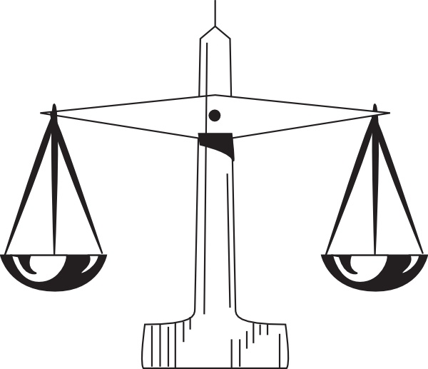 600x517 Scale Of Justice Clip Art Free Vector In Open Office Drawing Svg