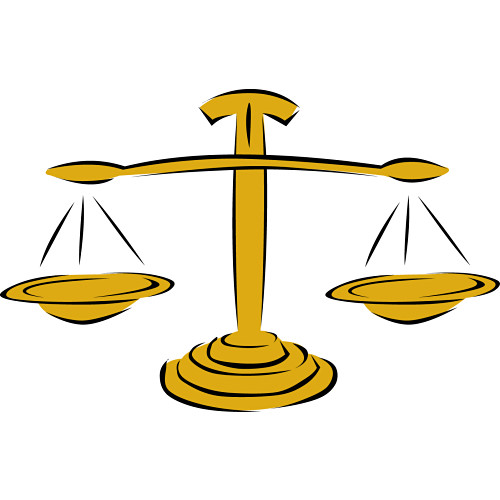500x500 Scales Of Justice Clip Art