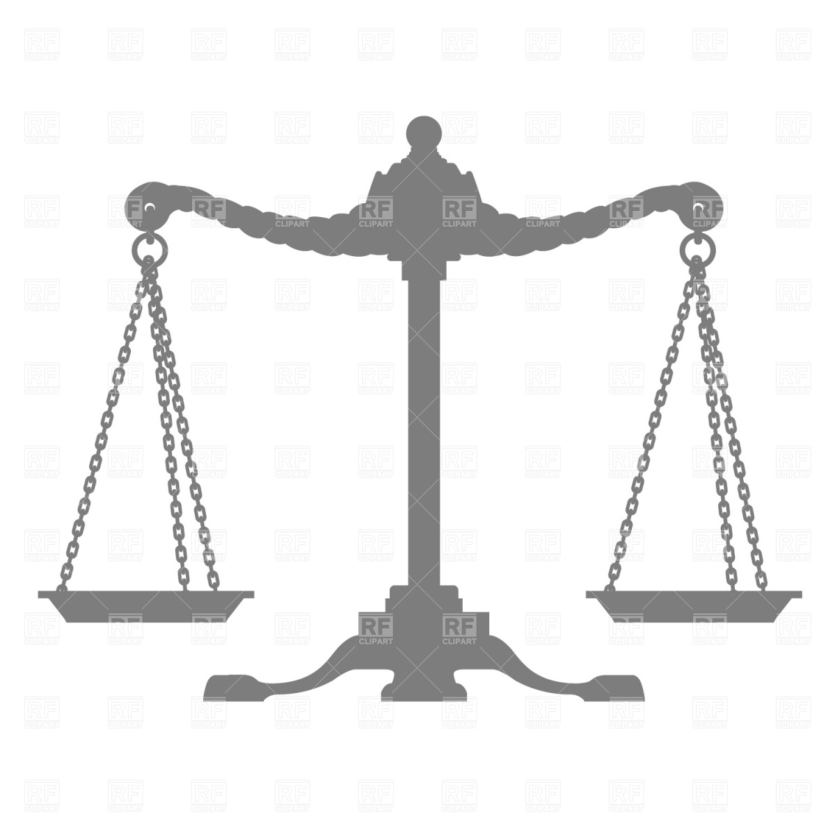 1200x1200 Scales Of Justice Silhouette Royalty Free Vector Clip Art Image