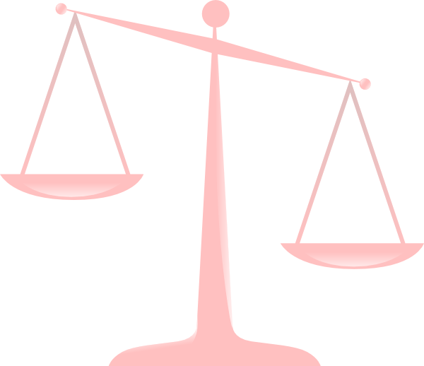 600x518 Transparent Scales Of Justice Clip Art
