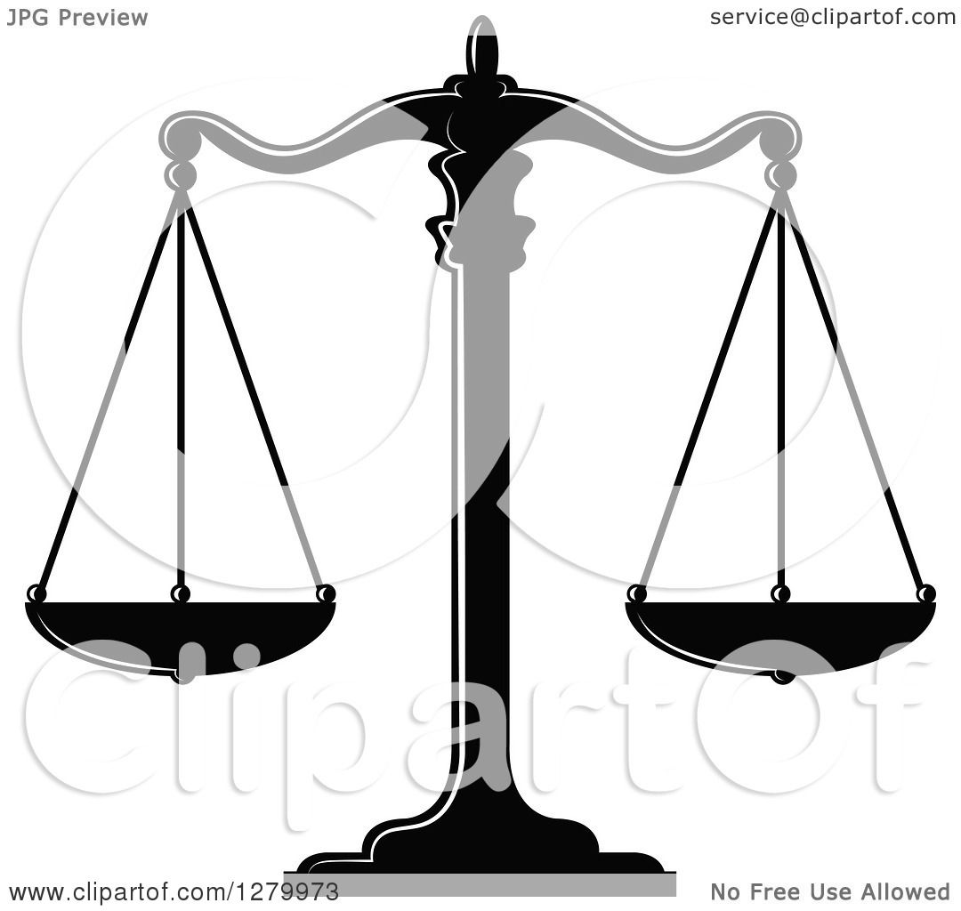 1080x1024 Scales Of Justice Clip Art Black And White