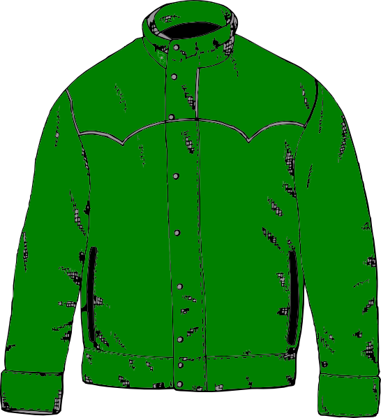 546x598 Green Jacket Clip Art