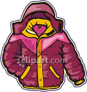 284x300 Pink Winter Jacket Royalty Free Clipart Picture