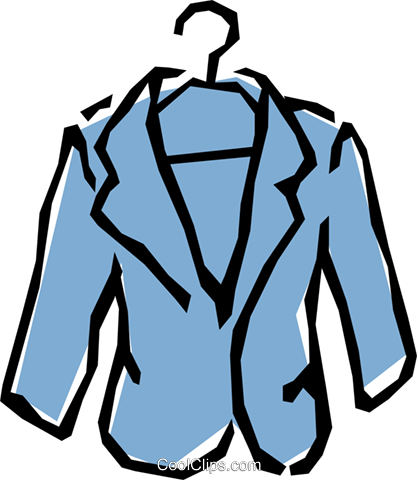 417x480 Sports Jacket Royalty Free Vector Clip Art Illustration Hous0541