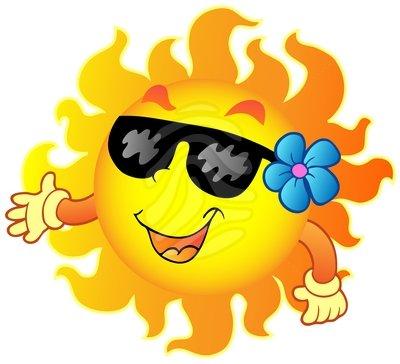 400x364 Sunglasses Clipart July Summer