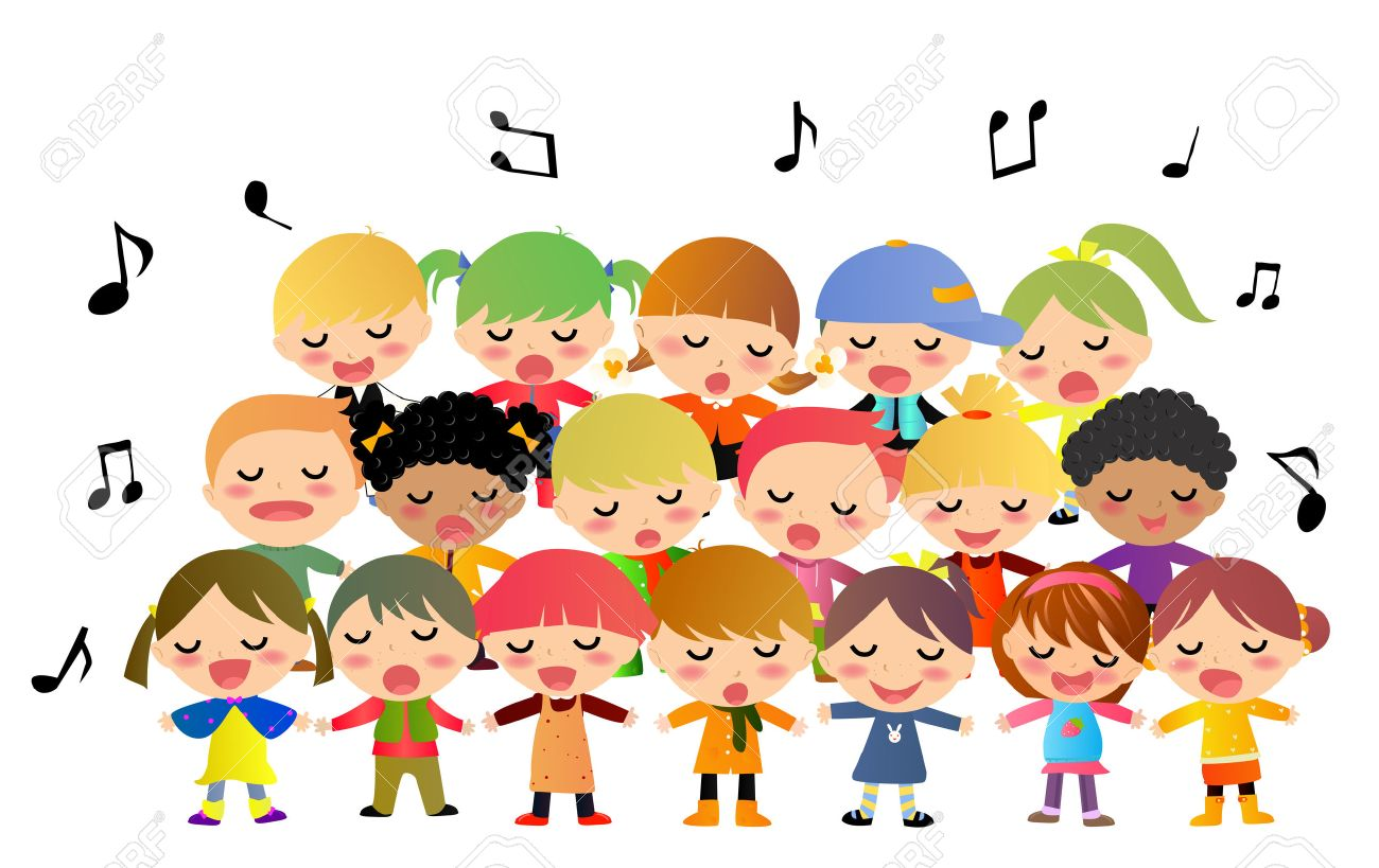 Free Clipart Kids Singing