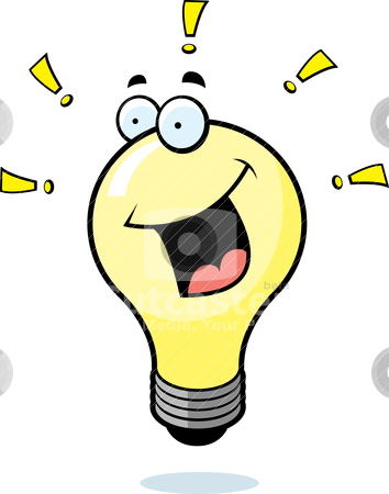 354x450 Light Bulb Thinking Clipart