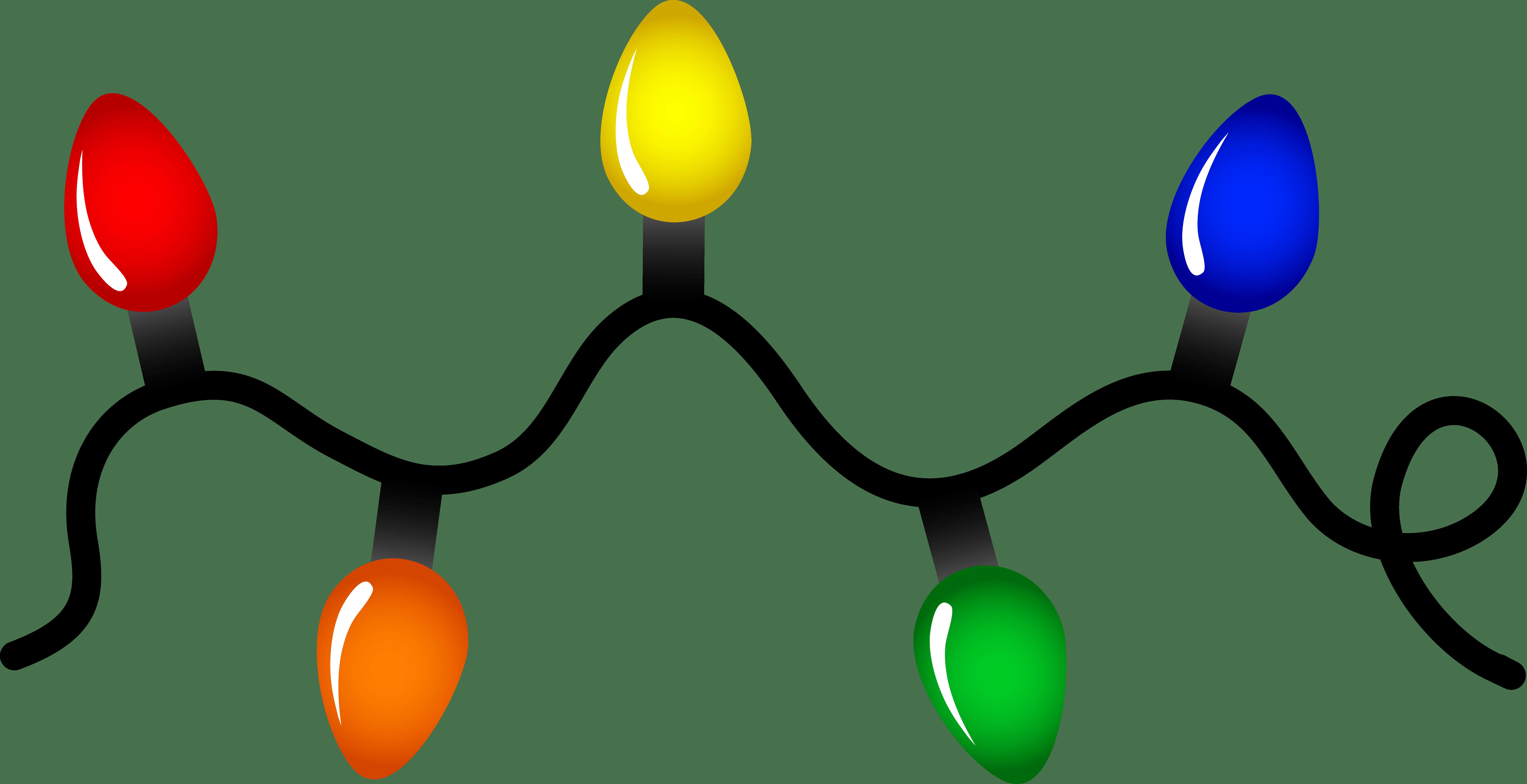 7709x3959 Christmas Light Bulb Clip Art Border
