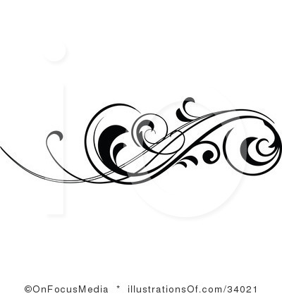400x420 Lines Clipart Scrollwork