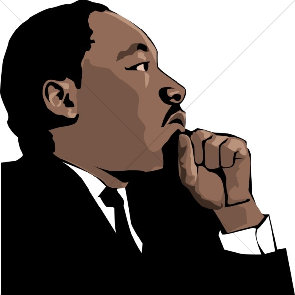 600x600 Martin Luther King Clipart