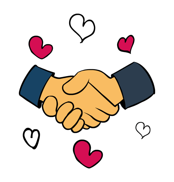 600x630 Clip Art King Martin Luther Day Handshake Hearts Big Image