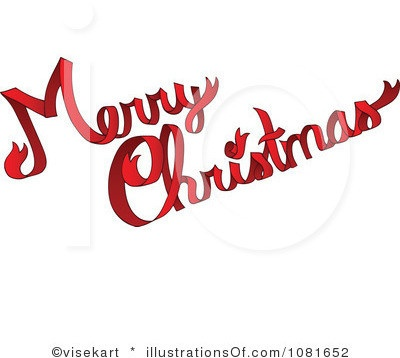 Free Clipart Merry Christmas Text