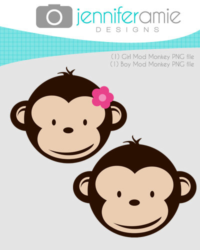 400x500 Baby Shower Monkey Clip Art