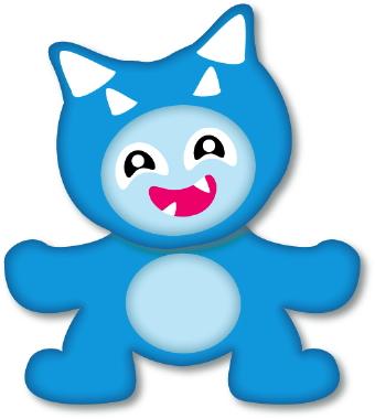 340x380 Happy Monster Clip Art