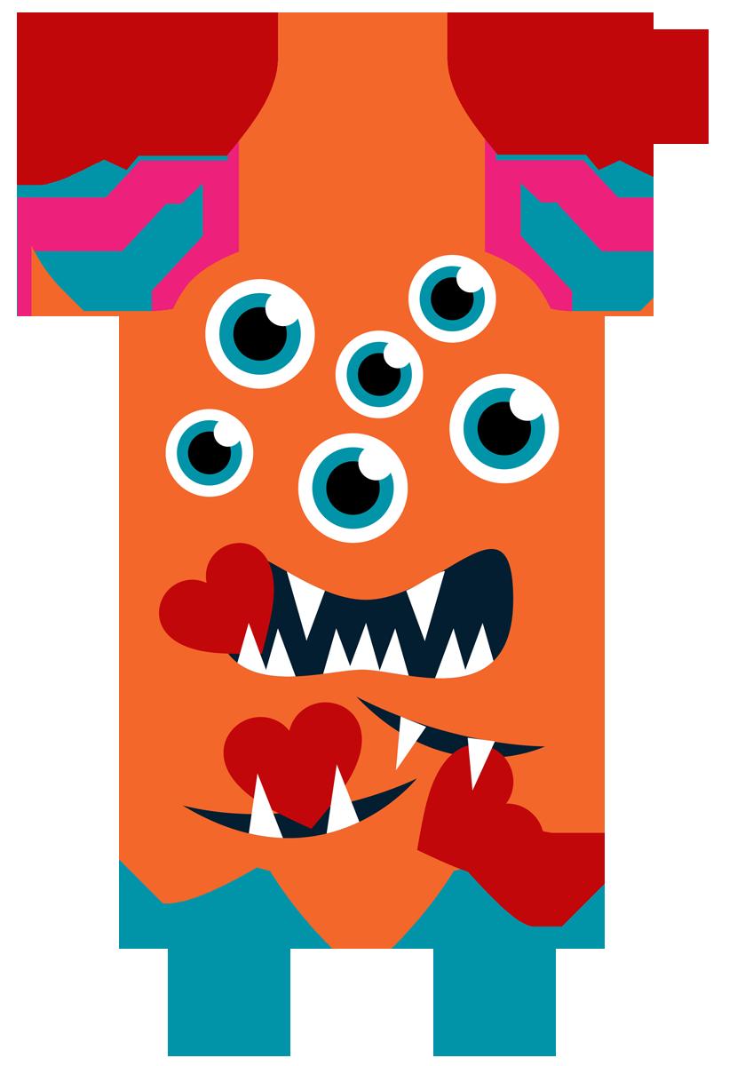 848x1200 Monster Clipart Valentine