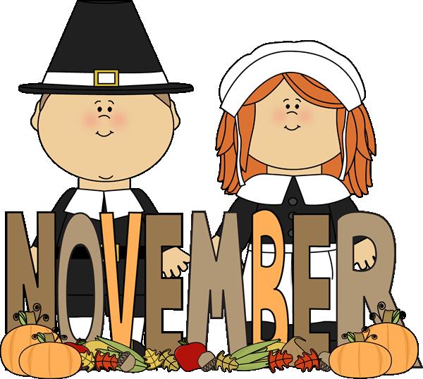 600x538 Month Of November Pilgrims Clip Art