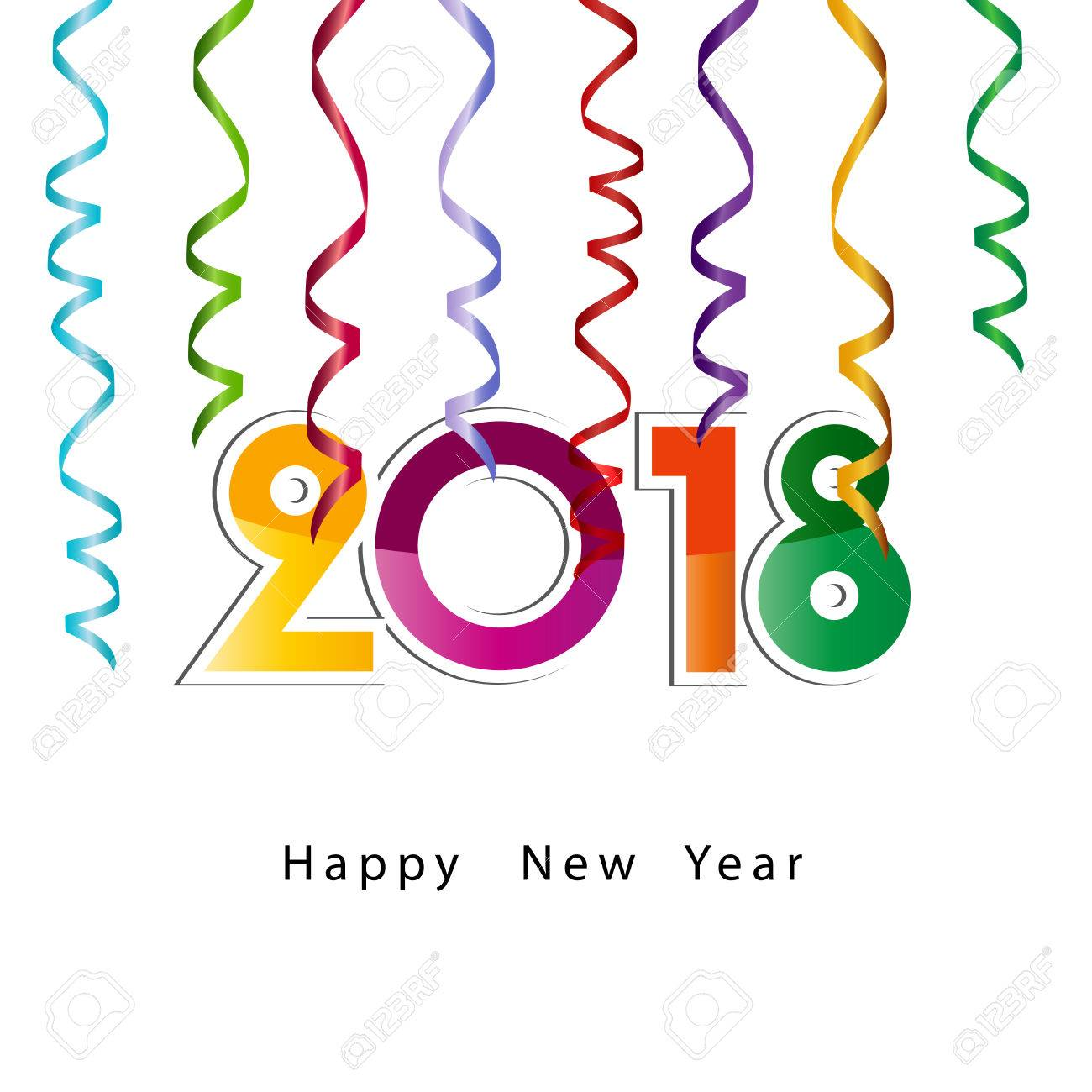 1300x1300 Happy New Year 2018, Background Or Element Of A Holidays Card