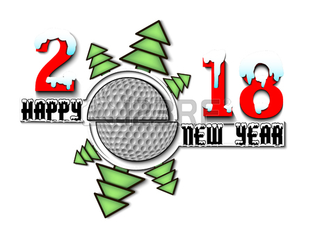 450x324 Happy New Year 2018 Sports Golf Concept. Royalty Free Cliparts