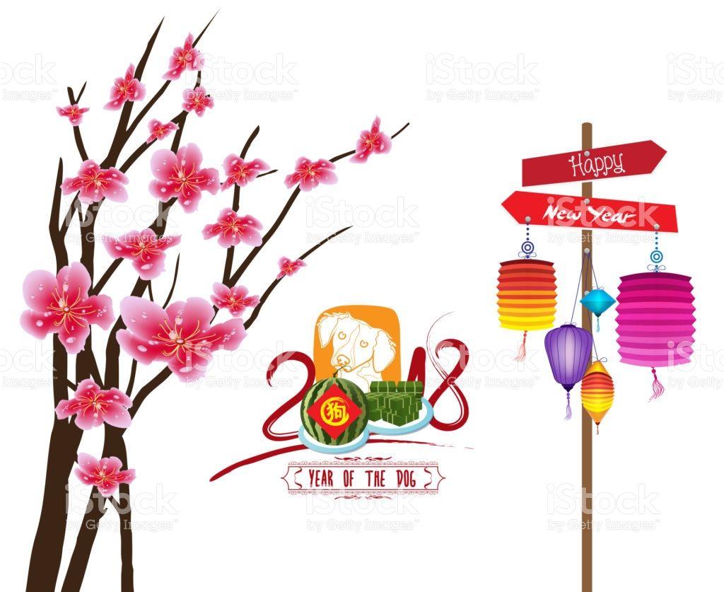 1024x837 Happy New Year 2018 Zodiac Dog. Lunar New Year Zodiac, Vector