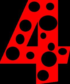 246x297 Number 4 Dots Clip Art