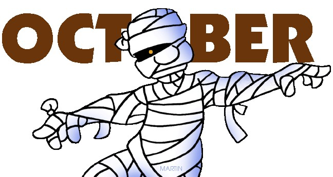 648x346 Free Clipart For October Calendar