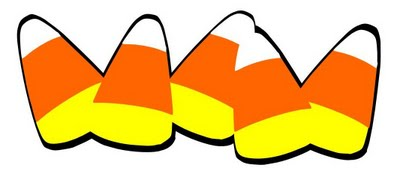 400x177 October Candy Corn Clip Art Free