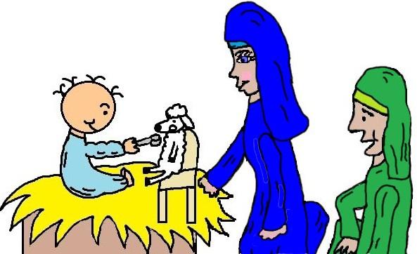593x362 Clipart Baby Jesus Mary Joseph