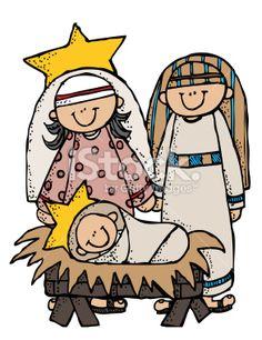 236x306 Melonheadz Mary Joseph Jesus Clipart