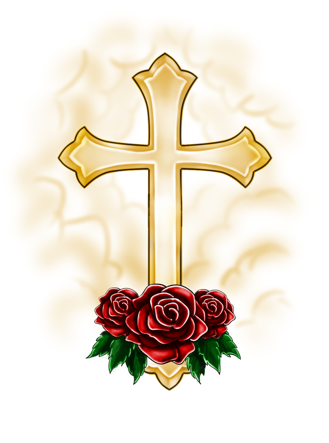 662x891 Free Clip Art Roses And Crosses Pictures Of Crosses With Roses