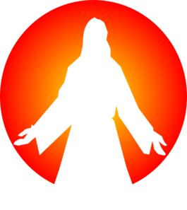 265x297 Jesus Christ With Sun Clip Art