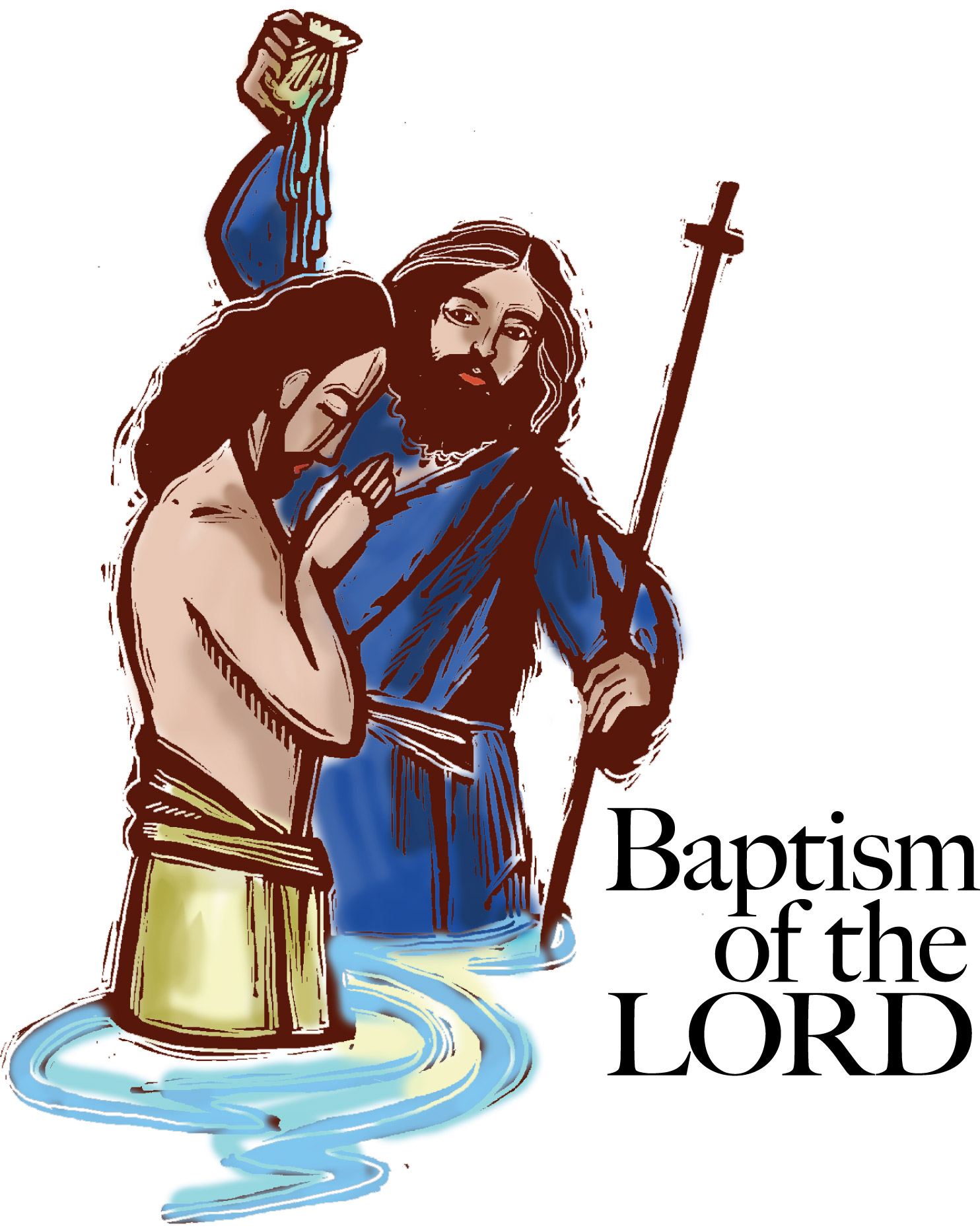 1484x1865 Baptism Of Jesus Clipart