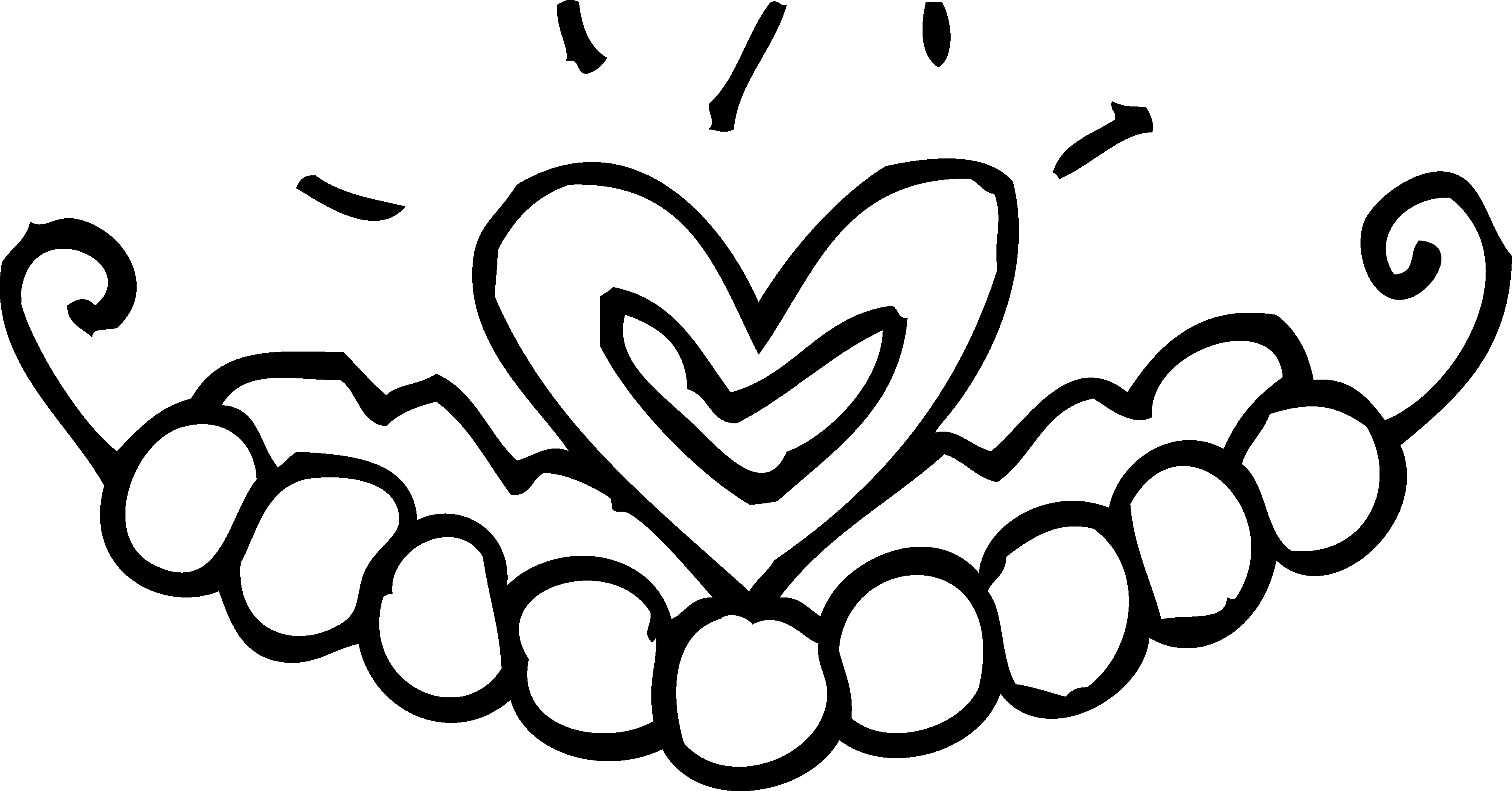 3663x1917 Princess Tiara Coloring Page