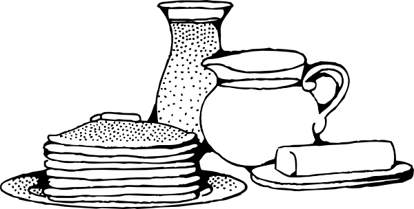 600x304 Breakfast With Pancakes Clip Art Free Vector 4vector