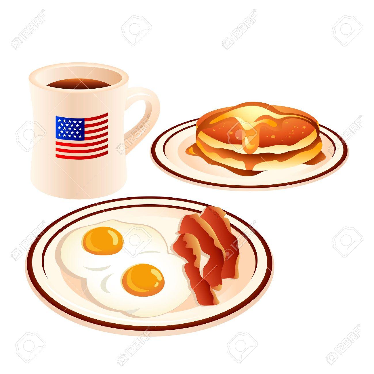 1300x1300 Pancake Clipart Pancake Bacon