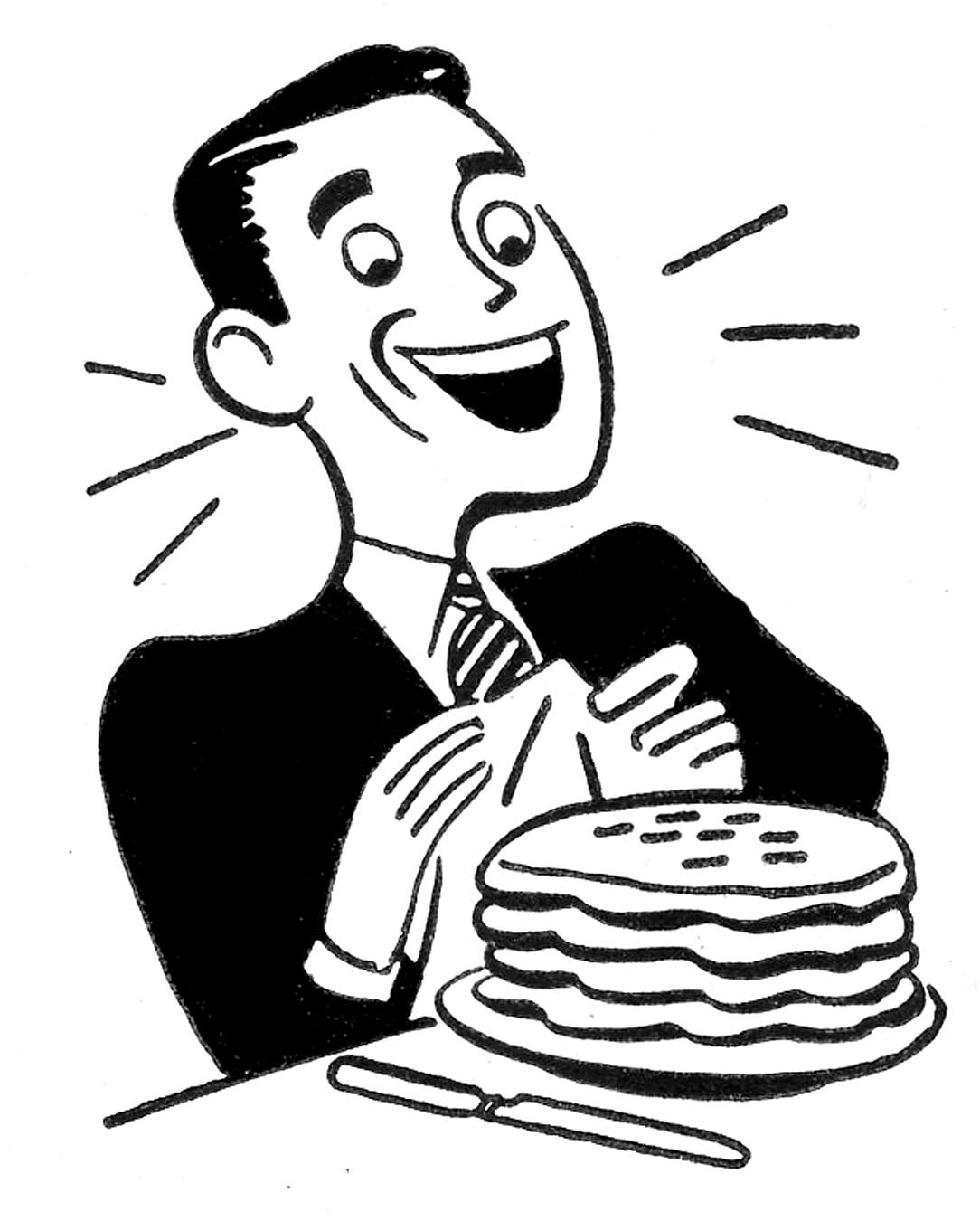 1084x1350 Pancake Clipart Vintage