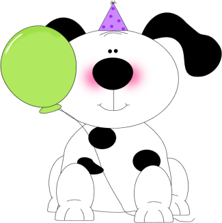 325x326 Free Clipart Dog Birthday Party