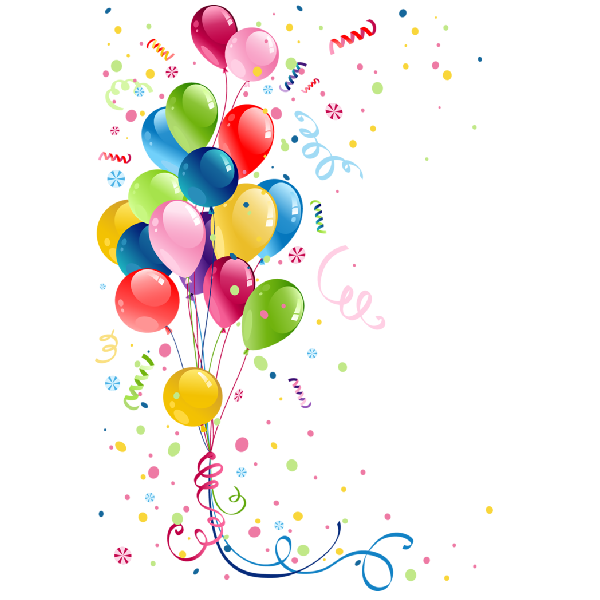 600x600 Party Balloons Party Clip Art Images